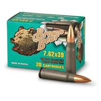 Brown Bear, 7.62x39, FMJ, 123 Grain, 240 Rounds