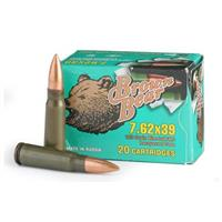 Brown Bear, 7.62x39, FMJ, 123 Grain, 260 Rounds