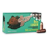 Brown Bear, 9mm, FMJ, 115 Grain, 50 Rounds