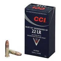 CCI Quiet-22, .22LR, Segmented Hollow Point, 40 Grain, 50 Rounds