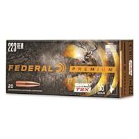 Federal Premium Barnes TSX, .223 Remington, Triple-Shock X HP, 55 Grain, 20 Rounds