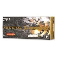 Federal Premium Trophy Copper, .223 Remington, Polymer Tip BT, 55 Grain, 20 Rounds