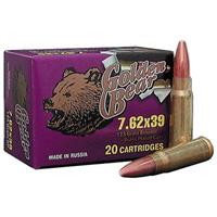 Golden Bear, 7.62x39, FMJ, 123 Grain, 20 Rounds