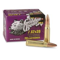 Golden Bear, 7.62x39, HP, 123 Grain, 20 Rounds