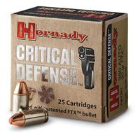 Hornady Critical Defense, .380 ACP, FTX, 90 Grain, 25 Rounds