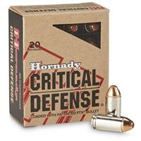 Hornady Critical Defense, .40 S&W, FTX, 165 Grain, 20 Rounds