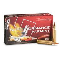 Hornady Superformance Varmint, .22-250 Remington, NTX, 35 Grain, 20 Rounds