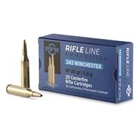 PPU, .243 Winchester, SP, 90 Grain, 20 Rounds