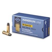 PPU, .38 Special, SWC, 158 Grain, 50 Rounds