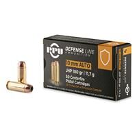 PPU Defensive Line, 10mm, JHP, 180 Grain, 50 Rounds