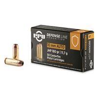 PPU Defensive Line, 10mm, JHP, 180 Grain, 50 Rounds