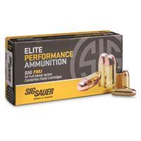 SIG SAUER Elite Performance, 10mm, FMJ, 180 Grain, 50 Rounds