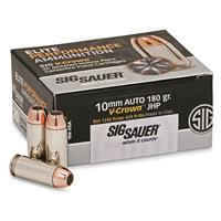 SIG SAUER Elite V-Crown, 10mm, JHP, 180 Grain, 20 Rounds