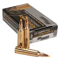 SIG SAUER Elite Varmint & Predator, .22-250 Remington,THP, 40 Grain, 20 Rounds