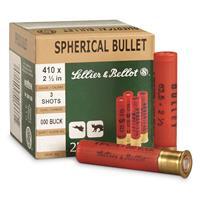 """Sellier & Bellot, .410 Gauge, 2 1/2"""", 000 Buckshot, 3 Pellets, 25 Rounds"""