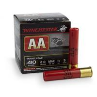 "Winchester, #9 AA Shotshells, .410 Gauge, 2 1/2"" Max. Shell, 1/2 oz., 25 Rounds"