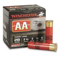 """Winchester, AA Shotshells, 28 Gauge, 2 3/4"""" Shell, 3/4 oz., 25 Rounds"""
