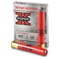 """Winchester Super-X, .410, 3"""" Shells, 000 Buckshot, 5 Pellets, 5 Rounds"""