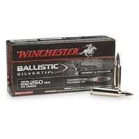 Winchester Supreme Ballistic Silvertip, .22-250 Remington, BST, 55 Grain, 20 Rounds