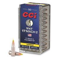 CCI .17 Hornady Mach 2, Speer VNT, 17 grain, 50 Rounds