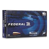 Federal Varmint & Predator, .22-250 Remington, Hornady V-MAX, 40 Grain, 20 Rounds