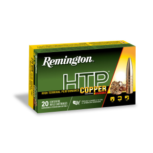 Remington HTP Copper Rifle Ammunition .22-250 Rem 50gr TSX 20/ct