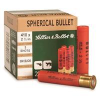 """Sellier & Bellot, .410 Gauge, 2 1/2"""", 000 Buckshot, 3 Pellets, 100 Rounds"""