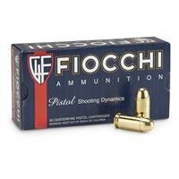 Fiocchi Shooting Dynamics, .45 ACP, FMC, 230 Grain, 50 Rounds