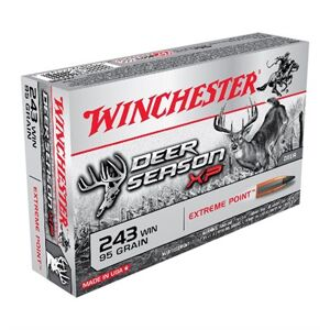 Winchester Deer Season Xp 243 Winchester Ammo - 243 Winchester 95gr Extreme Point Polymer Tip 20/Box