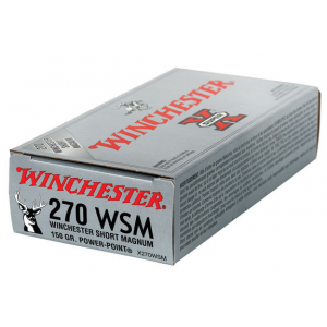 Winchester Super-X Power Point Rifle Ammunition .270 WSM 150 gr PSP 3150 fps - 20/box