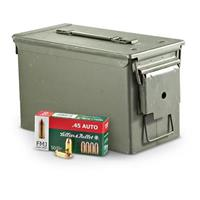 Sellier & Bellot, .45 ACP, FMJ, 230 Grain, 800 Rounds with Ammo Can