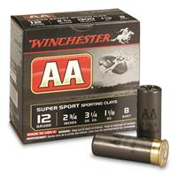 "Winchester AA Super Sport Sporting Clays, 12 Gauge, 2 3/4"", 1 1/8 oz. Shot Shells, 25 Rounds"