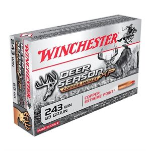 Winchester Deer Season Xp Copper Impact 243 Winchester Ammo - 243 Winchester 85gr Extreme Point Polymer Tip 20/Box