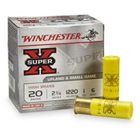 "Winchester Super-X High Brass Game Loads 20 Gauge 2 3/4"" 1 ozs. 25 rounds"