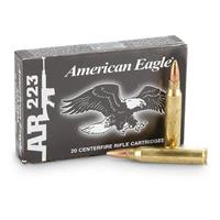 Federal American Eagle, .223 Rem., FMJ, 55 Grain, 100 Rounds
