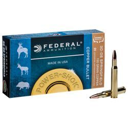 Federal Power Shok Copper Centerfire Rifle Ammo - .30-06 - 20 rounds