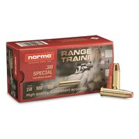 Norma Range & Training, .38 Special, FMJ, 158 Grain, 50 Rounds