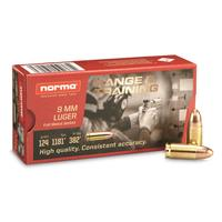 Norma Range & Training, 9mm, FMJ, 124 Grain, 20 Rounds