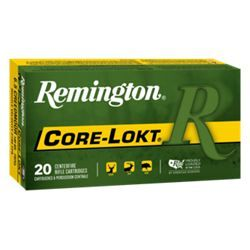 Remington Core-Lokt Rifle Ammo - .30-06 Springfield - Pointed Soft Point - 125 Grain