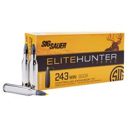 Sig Sauer Elite Hunter Tipped Centerfire Rifle Ammo - .243 Winchester