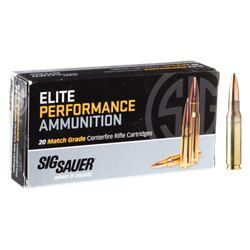 Sig Sauer Elite Performance Match Grade Centerfire Rifle Ammo - .308 Winchester - 168 Grain - 20 Rounds