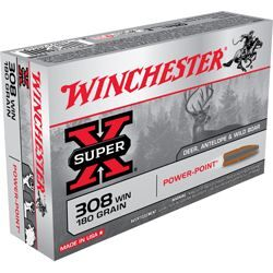 Winchester Super-X Power-Point Centerfire Rifle Ammo - 100 Grain - .243 Winchester