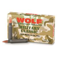 Wolf WPA Military Classic, .223 Rem., SP, 55 Grain, 1,000 Rounds