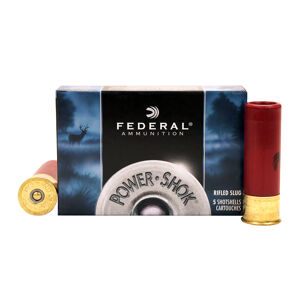 FEDERAL Power-Shok 16 Gauge 2.75in Rifled Slug Ammo, 5 Round Box (F164RS)