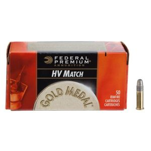 Federal Gold Medal Target Rimfire Ammo - .22 Long Rifle - 40 Grain - 50 Rounds