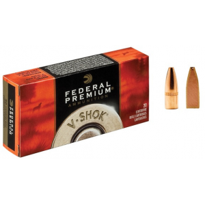 Federal Premium V-Shok Rifle Ammunition .22-250 Rem 43 gr TNT HP 4000 fps - 20/box