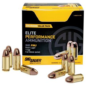 Sig Sauer Elite Performance FMJ Handgun Ammo - 10mm