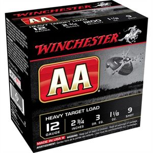 "Winchester Aa Heavy Target Ammo 12 Gauge 2-3/4"" 1-1/8 Oz #9 Shot - 12 Gauge 2-3/4"" 1-1/8 Oz #9 Shot 25/Box"