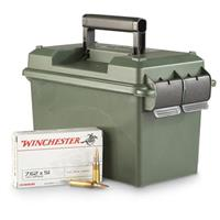 .308 (7.62x51mm), FMJ, 147 Grain Ammo with Ammo Can, 300 Rounds