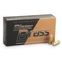 CCI Blazer Brass, 9mm, FMJ-RN, 115 Grain, 250 Rounds
